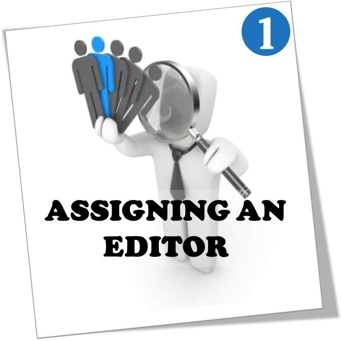 Assigning an article editor