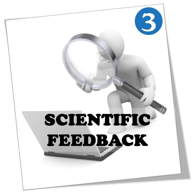 Scientific feedback on research papers