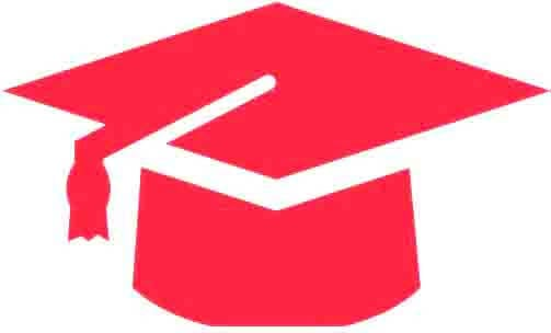 Red PhD graduation hat