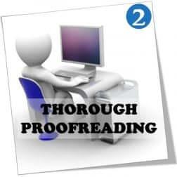 Thorough proofreading