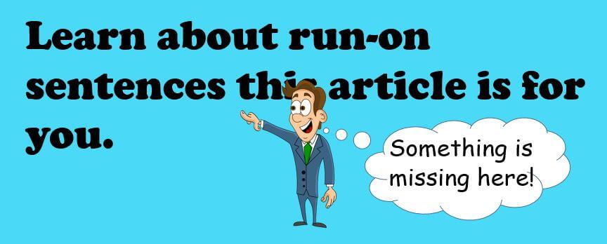 Run-on sentences example