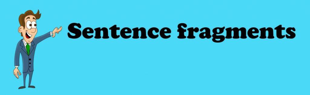 sentence fragment examples